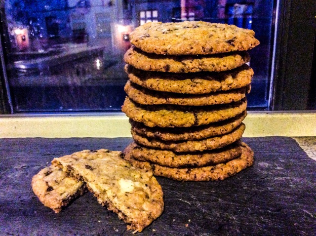 sprøde chokolade cookies 1