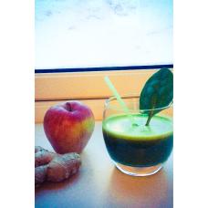 Juice æble ingefær og spinat